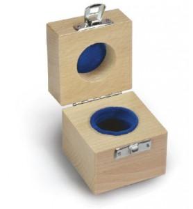 KERN 317-130-100 Holz-Etui für Einzelgewichte