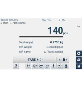 Balance de table KERN GAT 6K-4 avec écran tactile