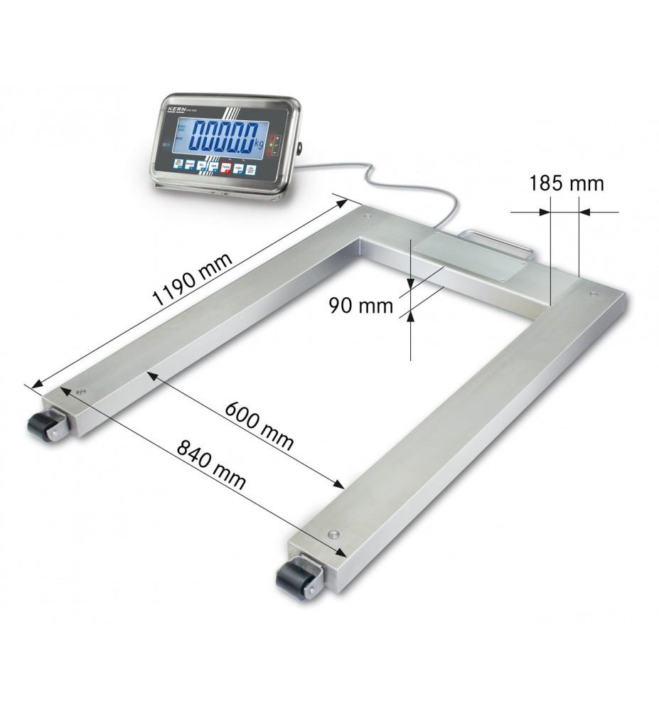 Balance à palettes KERN UFN 1.5T0.5IPM en acier inoxydable