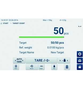 Bilancia a piattaforma KERN IFT 6K-4 con touchscreen
