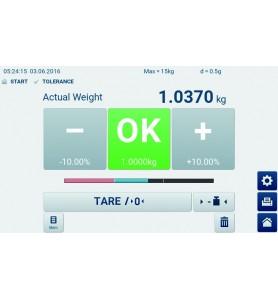 Bilancia a piattaforma KERN IFT 60K-3L con touchscreen