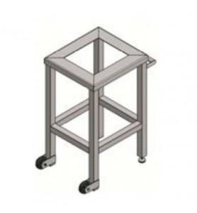 Table basse fixe en acier inoxydable
