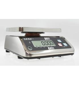 Balance de table KERN FFN 15K2IPN en acier inoxydable IP65