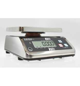 Balance de table KERN FFN 3K1IPM en acier inoxydable, calibrée