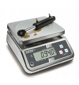 Balance de table KERN FFN 6K2IPM en acier inoxydable, calibrée
