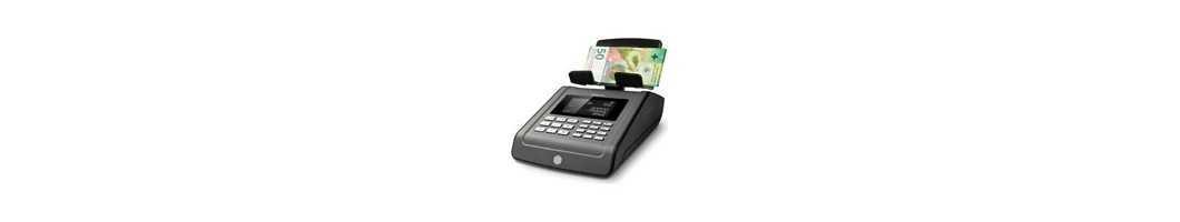 Geldwaagen für Schweizer Franken - Banknoten und Münzen