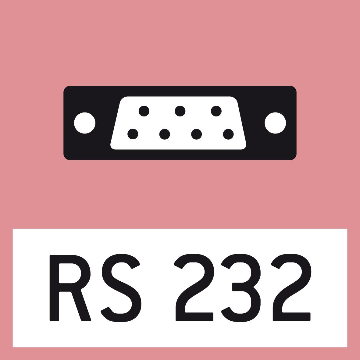 Datenschnittstelle RS-232: Zum Anschluss der Waage an einen Drucker, PC oder Netzwerk.